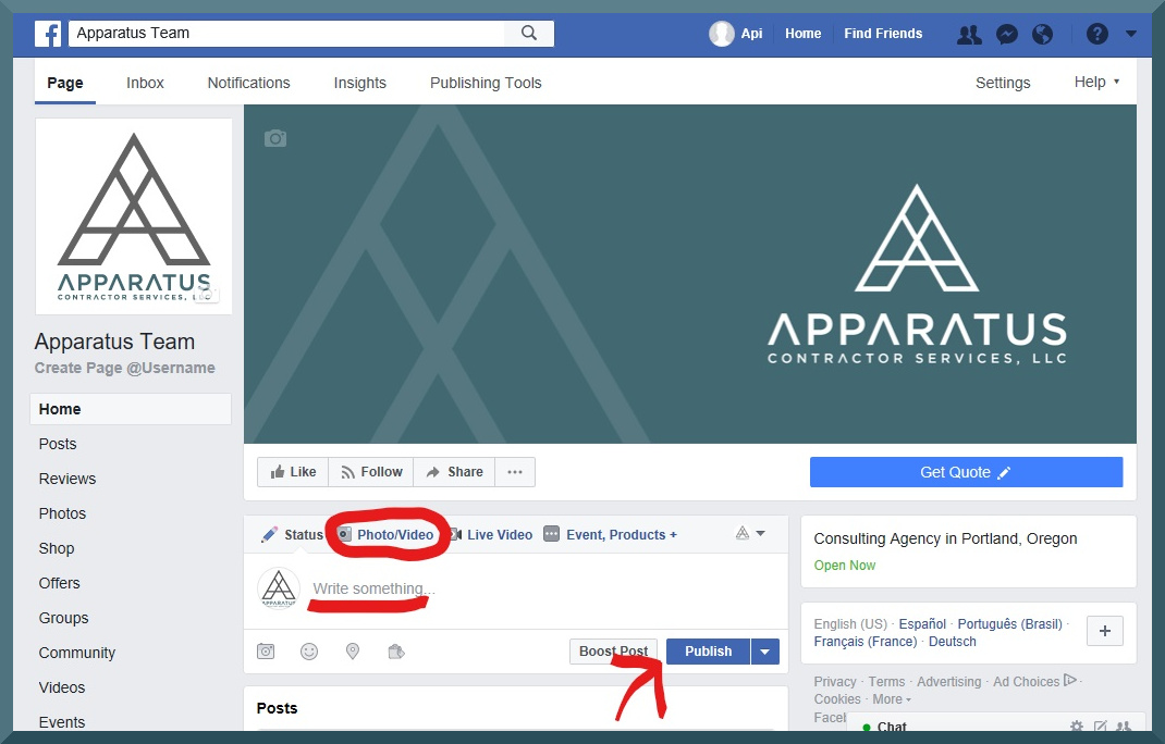 facebook business page step 10