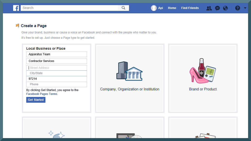 facebook business account step 4