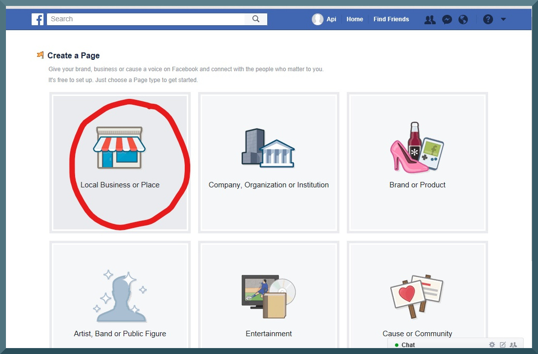 facebook business page step 4