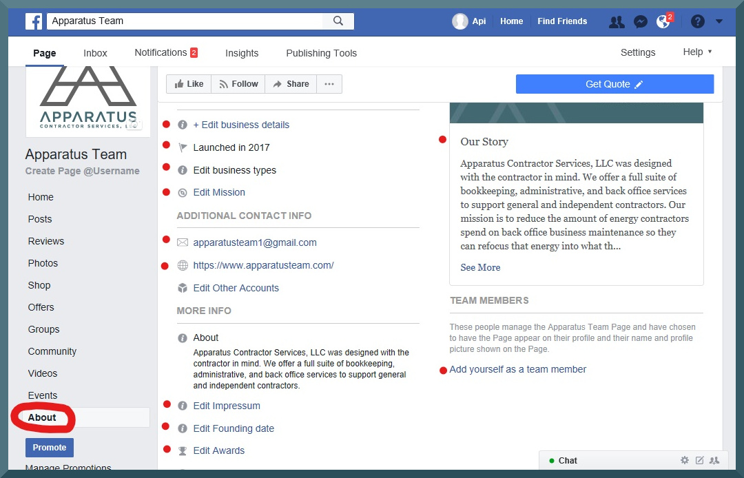facebook business page step 6