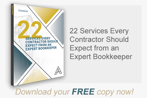 22 Services Every Contractor Should Expect from an Expert Bookkeeper