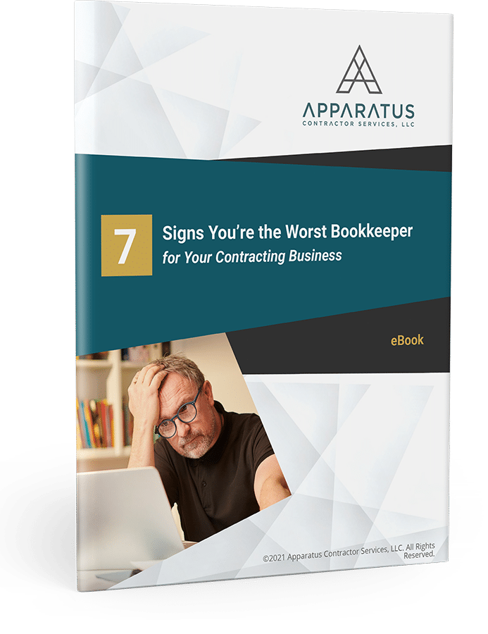 Signs You're the Worst Bookkeeper for Your Contracting Business Free PDF Download
